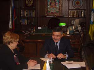 Глава Калмыкии Алексей Орлов встретился с руководством группы компаний «Продконтракт»